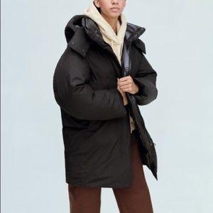 Uniqlo U Oversized Padded Black Winter Parka Coat
